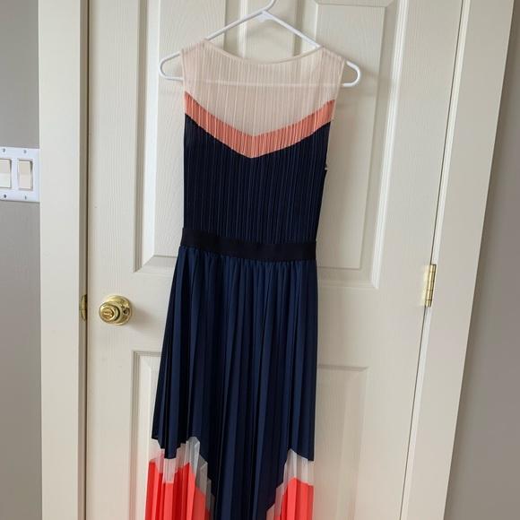"BCBGMaxAzria Dresses & Skirts - BCBG ""Kathrine"" colorblock pleated Maxi Dress"